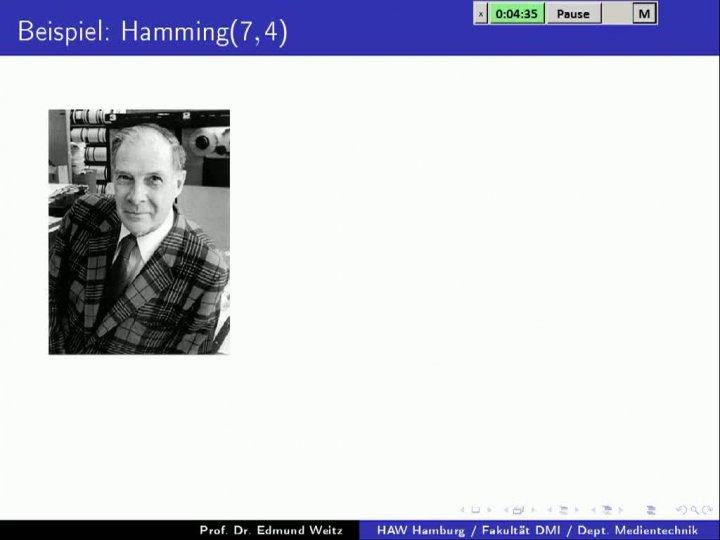 M2 2013-11-06 10 Anwendung - Hamming-Codes