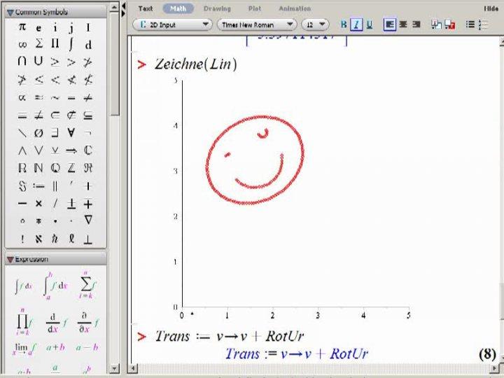 M2 2013-12-04 08 Zerlegung von Isometrien, Beispiel in Maple