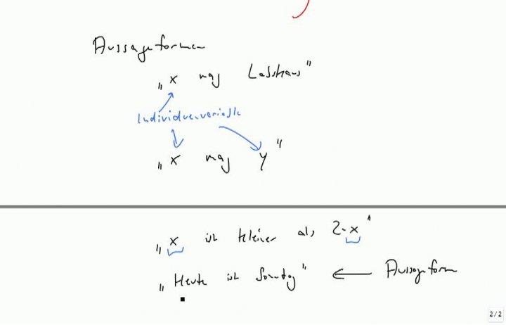 M1 2013-10-16 04 Prädikatenlogik, Aussageformen