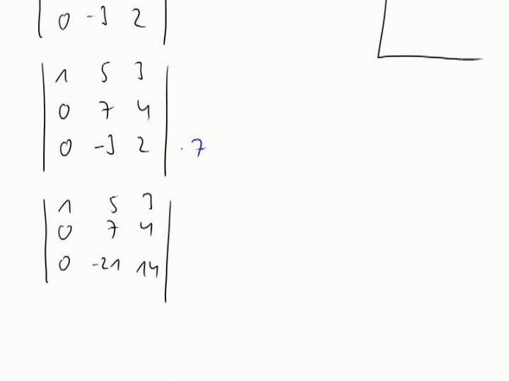 M2 2013-11-15 06 Determinanten, Gauß-Verfahren, Maple, geometrische Bedeutung