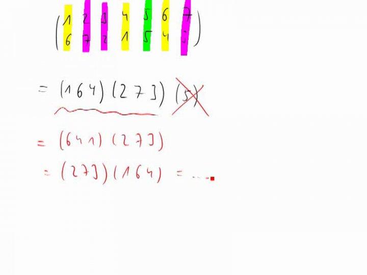 M2 2014-10-08 07 Zerlegung in Zyklen - Beispiel