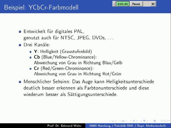 M2 2013-11-06 05 Anwendung - YCbCr
