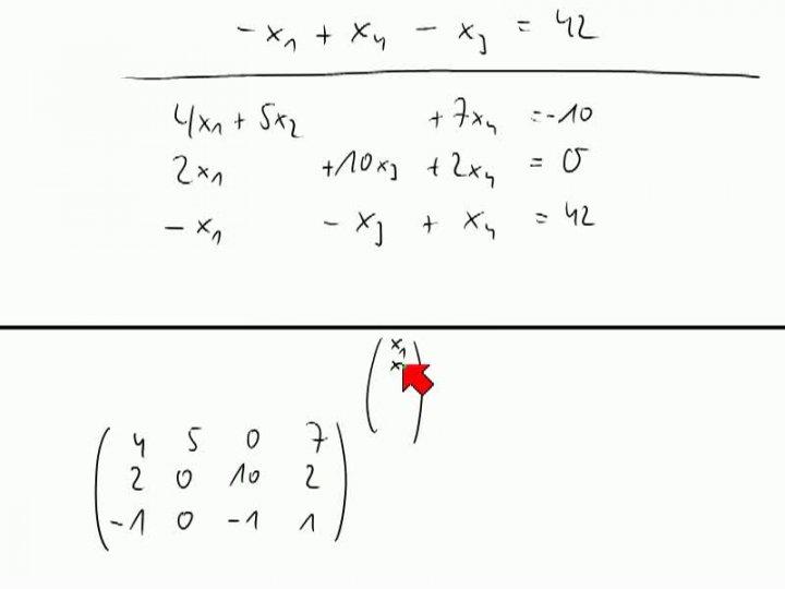 M2 2013-11-01 07 Matrizen und lineare Gleichungssysteme