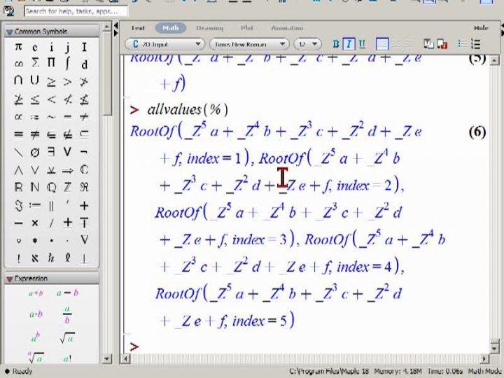 M2 2014-11-03 02 Fundamentalsatz der Algebra und Nichtauflösbarkeit von Gleichungen höheren Grades