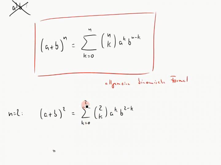 M1 2014-12-08 02 Binomialkoeffizienten und die allgemeine binomische Formel