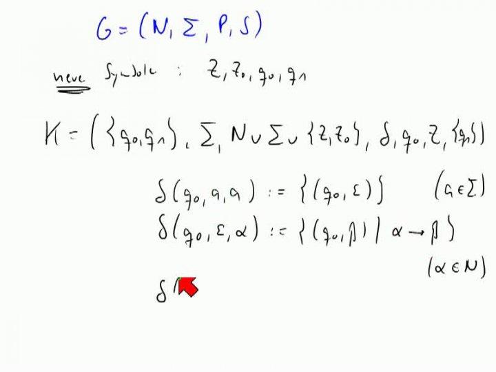 TI 2013-11-07 03 Äquivalenz von Kellerautomaten und kontextfreien Grammatiken