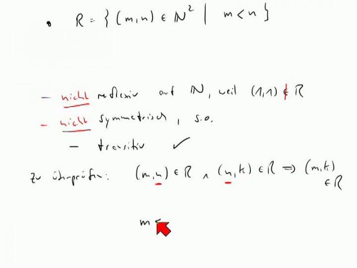 M1 2013-11-27 04 Reflexivität, Symmetrie, Transitivität - Beispiele