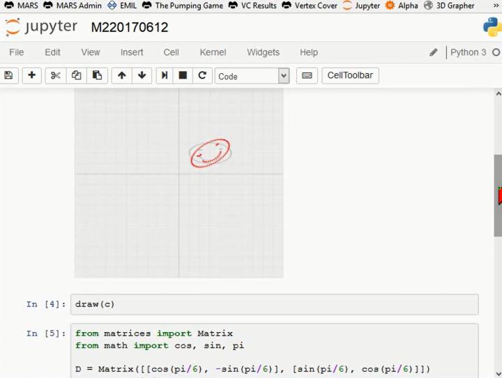 M2 2017-06-12 09 Homogene Koordinaten: Beispiel in Python
