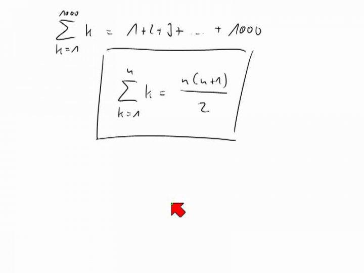 M1 2013-12-18 09 Gaußsche Summenformel