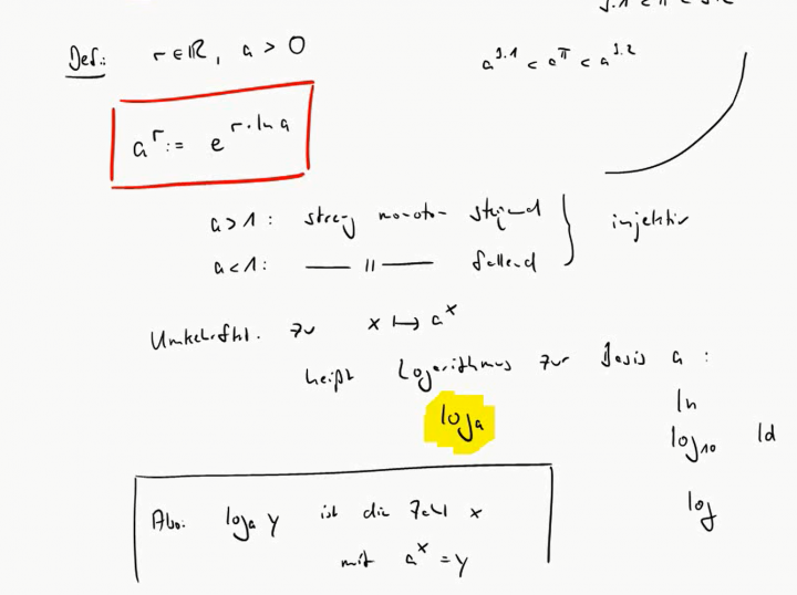M3 2017-11-01 01 Allgemeine Potenz mit reellen Exponenten, allgemeiner Logarithmus