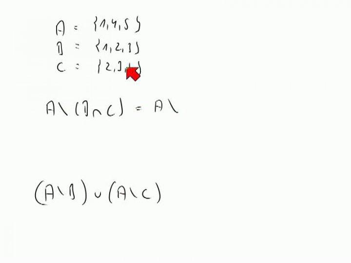 M1 2013-11-06 06 Vereinigung, Durchschnitt, Differenz - einige Eigenschaften