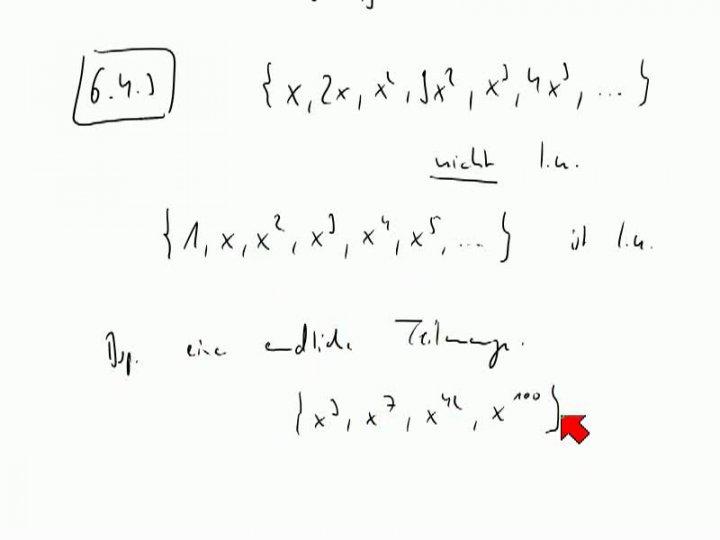 M2 2013-10-30 05 Unendliche linear unabhängige Mengen