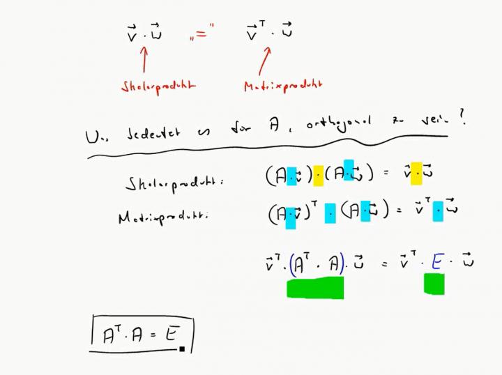 M2 2017-06-12 02 Ein einfaches Kriterium für die Orthogonalität einer Matrix