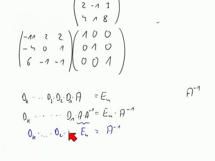M2 2013-11-08 07 Gauß-Verfahren zum Invertieren einer Matrix, Begründung