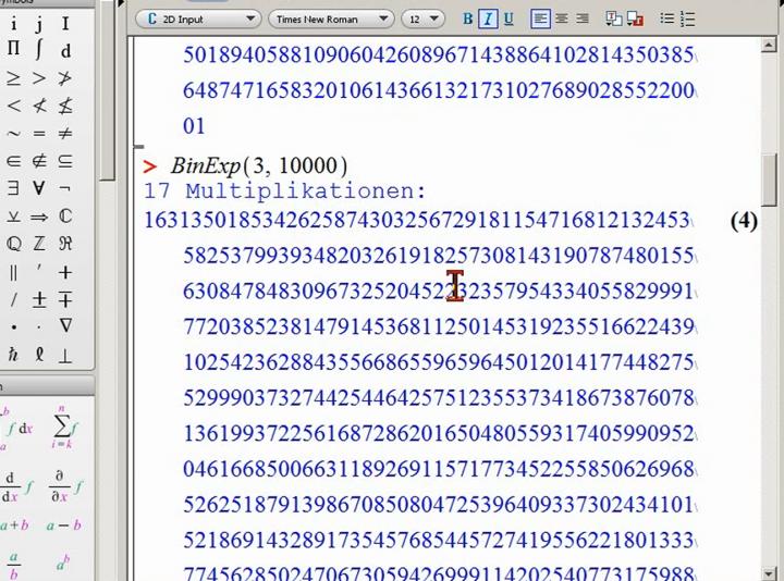 M2 2014-03-21 01 Wiederholung binäre Exponentiation