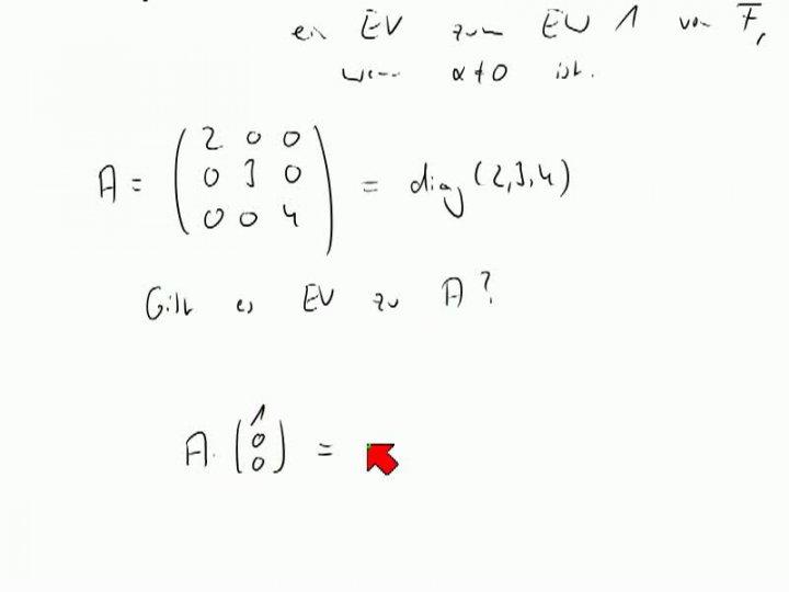 M2 2013-11-22 08 Eigenwerte und Eigenvektoren, Definition und Beispiele