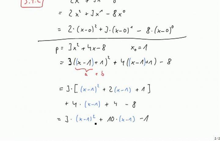 M2 2013-10-11 04 Entwickeln eines Polynoms; Linearfaktoren