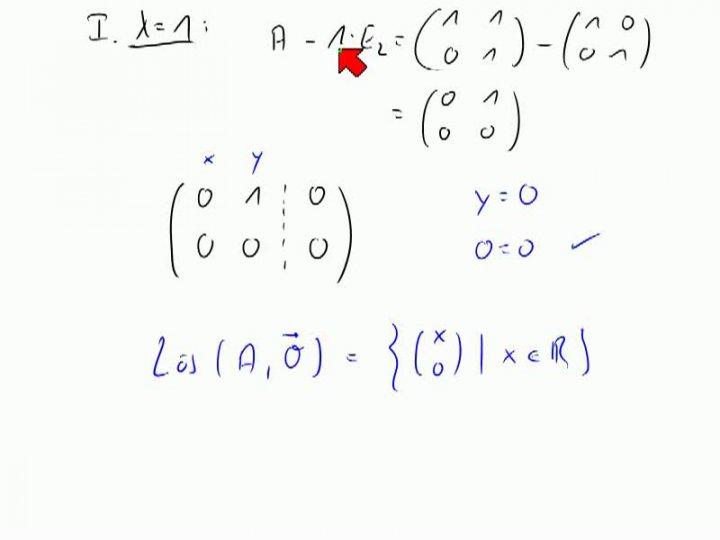 M2 2013-11-27 02 Berechnung von Eigenwerten und Eigenvektoren, Teil 2
