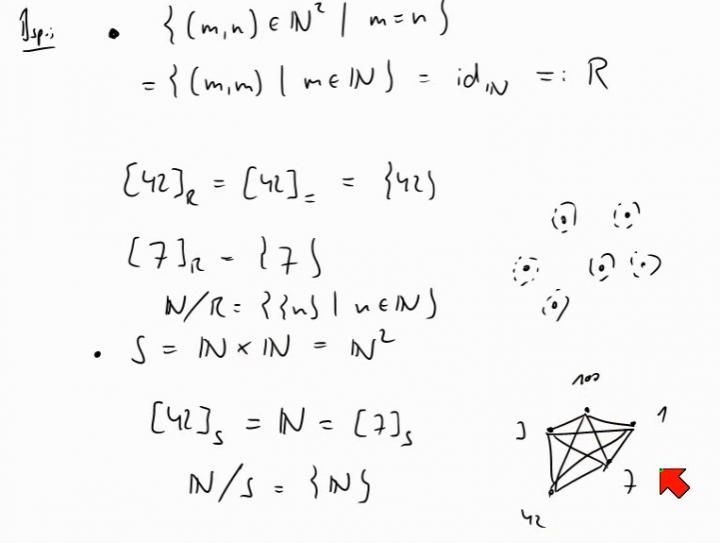 M1 2014-05-07 05 Äquivalenzklassen und Faktor- bzw. Quotientenmengen, Beispiele