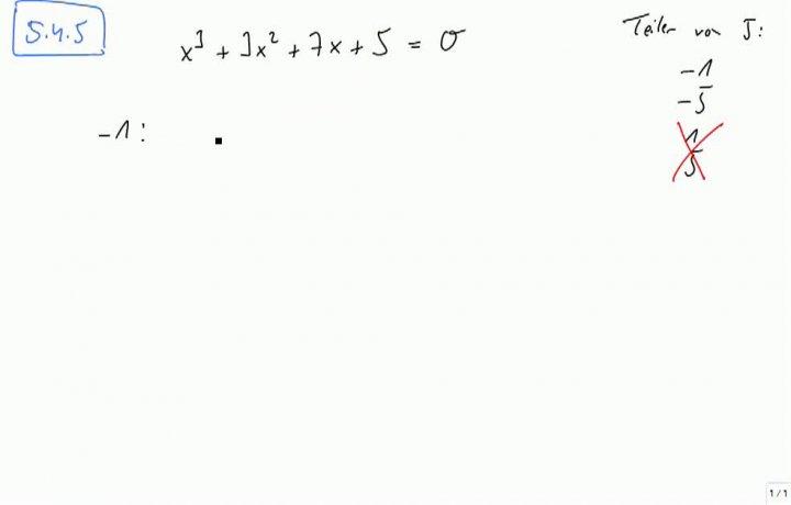 M2 2013-10-16 01 Zerlegung von Polynomen in Linearfaktoren
