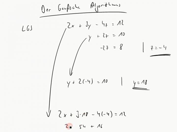 M2 2014-11-19 01 Der Gauß-Algorithmus - elementare Zeilenumformungen