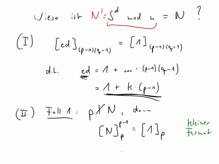 M2 2014-03-21 07 RSA-Algorithmus - Beweis [unvollständig]