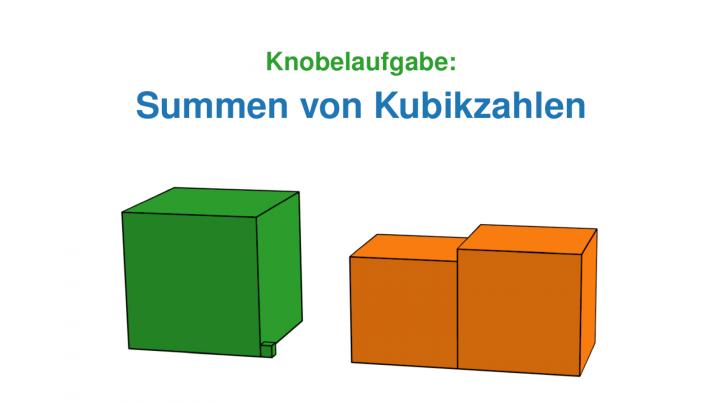 KN 2019-02-05 01 Knobelaufgabe: Summen von Kubikzahlen