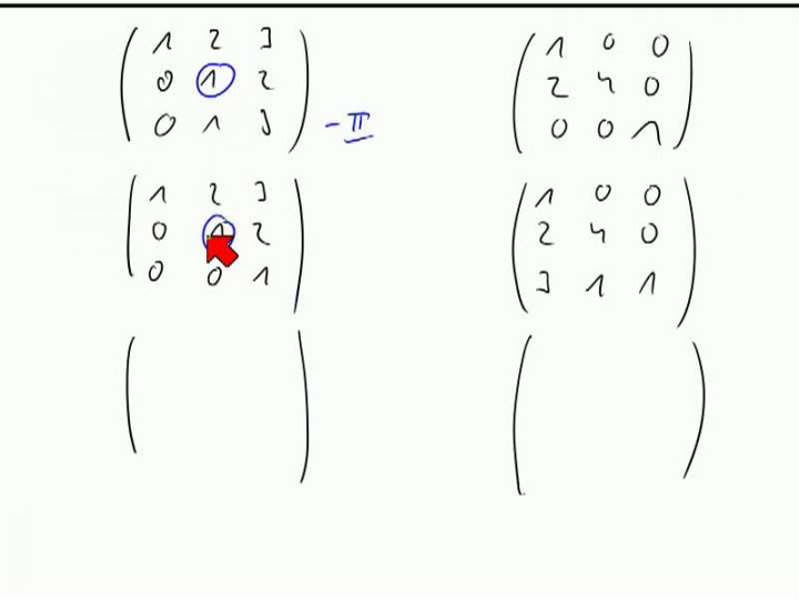 M2 2013-11-13 01 Gauß-Verfahren zum Invertieren einer Matrix in endlichen Körpern