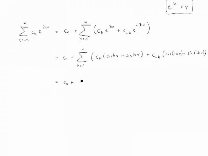 M3 2017-12-20 03 Trigonometrische Polynome / Fourier-Analysis im Komplexen
