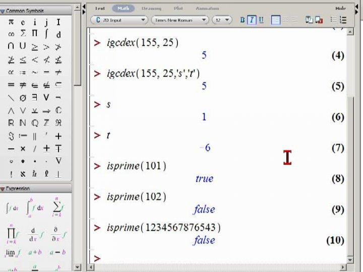 M2 2014-03-14 05 Zahlentheoretische Funktionen in Maple