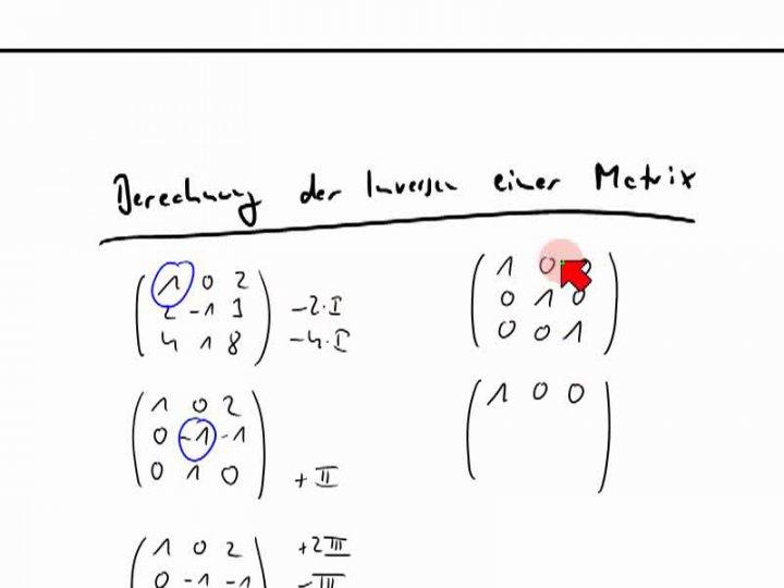 M2 2014-05-07 09 Invertieren einer Matrix