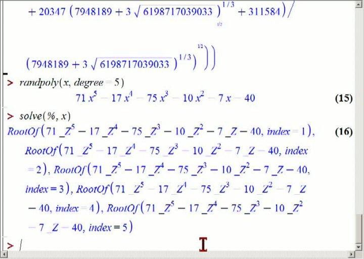 M2 2013-10-11 07 Polynomdivision und Nullstellen von Polynomen in Maple