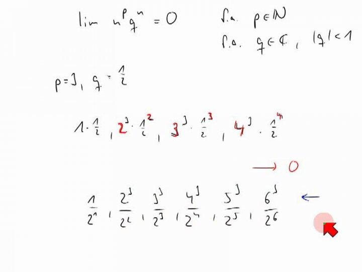 M2 2013-12-11 01 Methoden und Rechenregeln zum Berechnen von Folgengrenzwerten