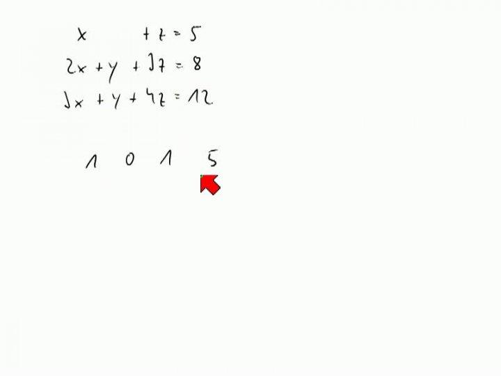 M2 2013-11-15 01 Gauß-Verfahren für lineare Gleichungssysteme, weitere Beispiele