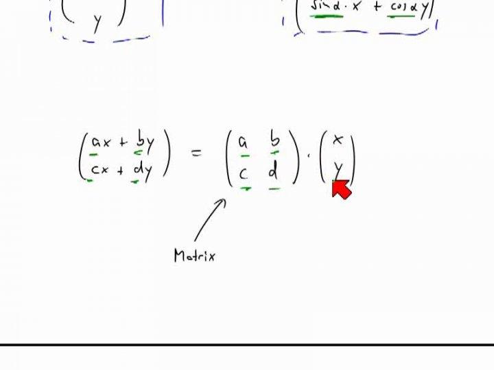 M2 2014-04-25 07 Darstellung von linearen Abbildungen als Matrizen