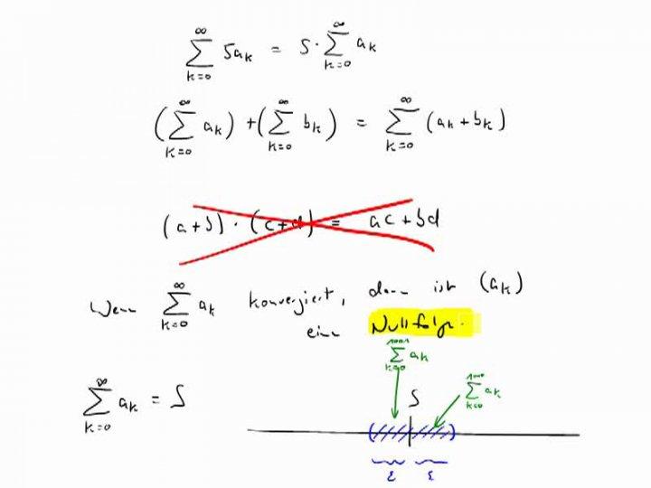 M3 2017-10-25 04 Nullfolgenkriterium und einfach Rechenregeln für Reihen