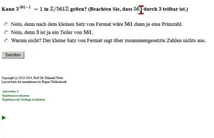 M2 2014-09-29 09 Anwendung - Fermatscher Primzahlentest