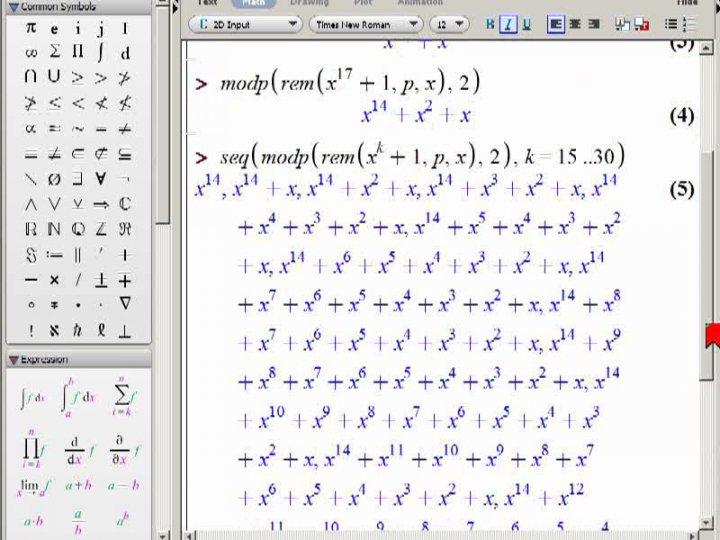 M2 2014-04-23 02 Ein spezielles Polynom (für CRC)