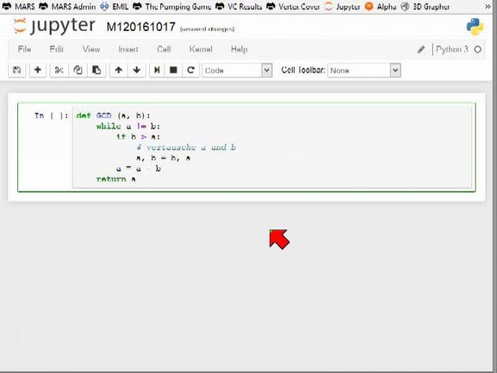 M1 2016-10-17 05 Der euklidische Algorithmus in Python