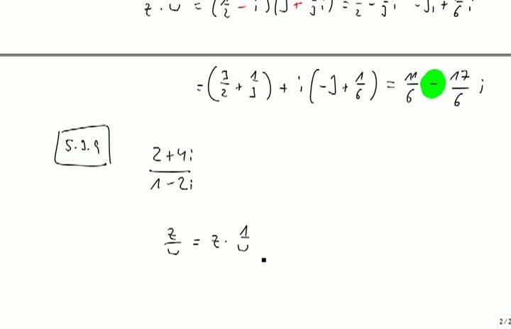 M2 2013-10-04 09 Komplexe Zahlen, Division