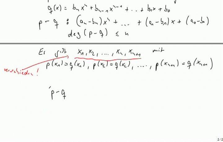 M2 2013-10-11 05 Maximale Anzahl der Nullstellen; Koeffizientenvergleich