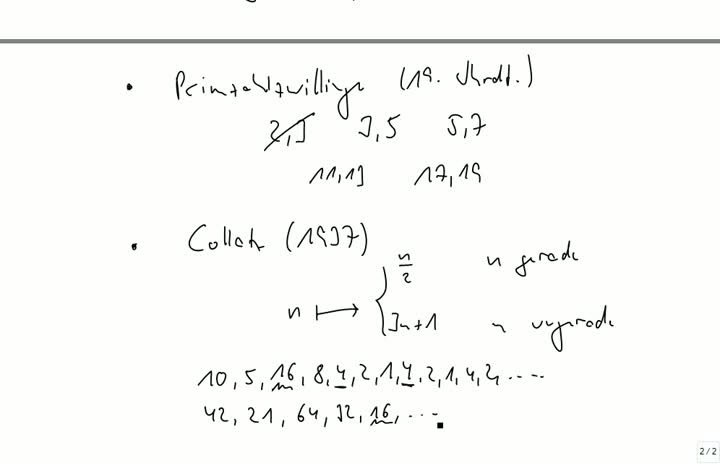 M2 2013-09-18 01 Zahlentheorie, berühmte Probleme