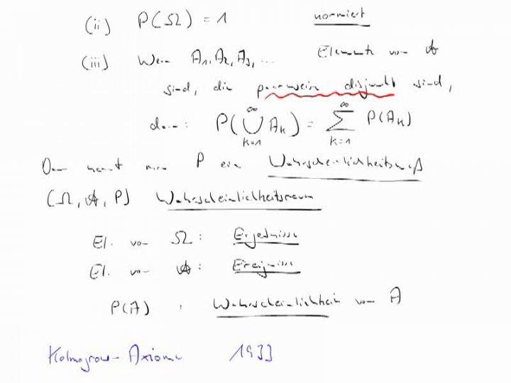 M4 2018-03-12 03 Die Kolmogorow-Axiome - Wahrscheinlichkeitsräume und Wahrscheinlichkeitsmaße