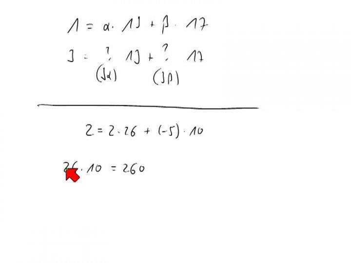 M2 2014-03-14 02 Erweiterter euklidischer Algorithmus, Fortsetzung