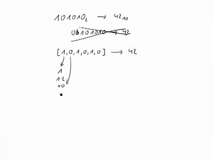 M1 2016-09-26 08 Konvertierung von binär nach dezimal in Python