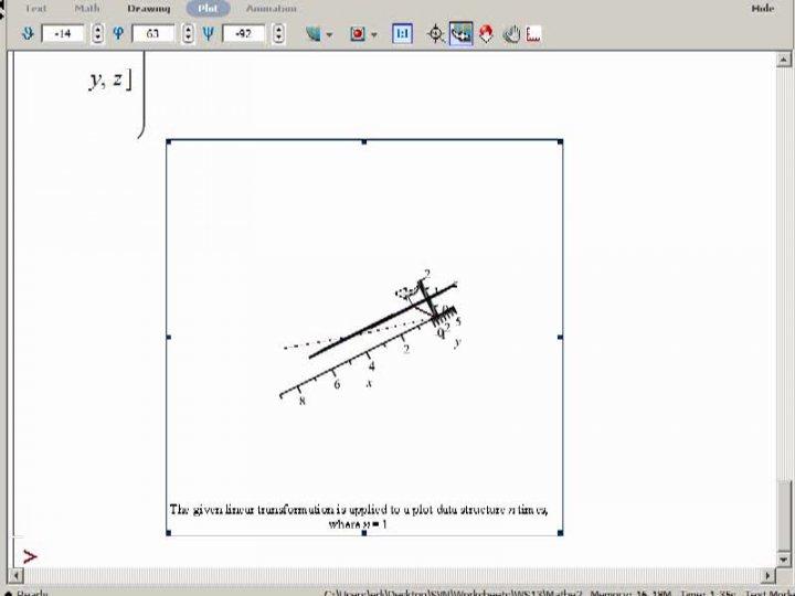 M2 2013-12-06 02 Geometrie der homogenen Koordinaten in Maple