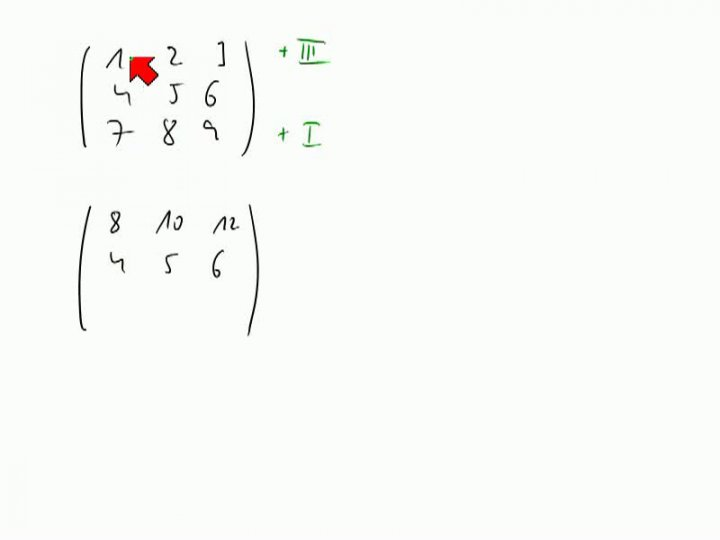 M2 2013-11-08 04 Gauß-Verfahren zur Berechnung des Rangs, weitere Beispiele