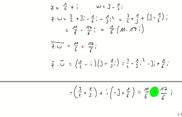 M2 2013-10-04 08 Komplexe Zahlen, Real- und Imaginärteil, Konjugieren