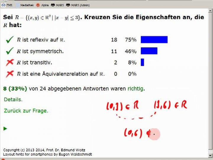 M1 2014-05-07 03 Äquivalenzrelationen, Fortsetzung