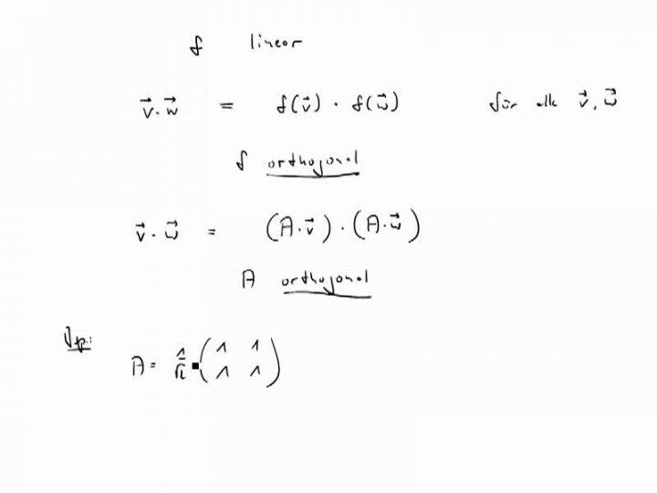M2 2017-06-12 01 Orthogonale Abbildungen und orthogonale Matrizen